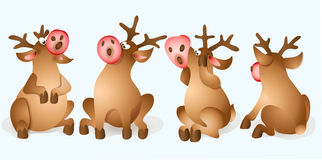 Christmas Reindeer Collection Royalty Free Stock Image