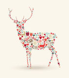 Christmas reindeer composition Royalty Free Stock Photos