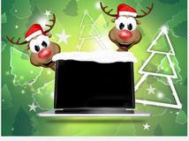 Christmas Reindeer Computer Stock Photos