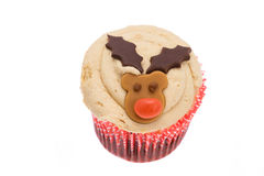 Christmas Reindeer cupcake Royalty Free Stock Photography
