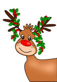 Christmas Reindeer. Cute reindeer with christmas decoration Royalty Free Stock Photography