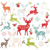 Christmas Reindeer Design Elements. A vector illustration of Christmas Reindeer Design Elements. Perfect for new year, christmas, greeting card and many more Stock Photo