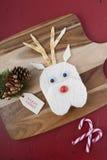 Christmas Reindeer Face Sandwich Stock Photography
