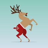 Christmas Reindeer in flat design for Christmas holiday decoration. Cartoon character. Vector. Royalty Free Stock Images