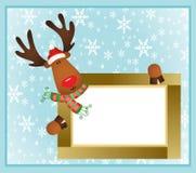 Christmas reindeer frame Stock Photography