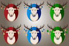 Christmas reindeer with gifts and new year . Royalty Free Stock Photo