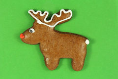 Christmas reindeer gingerbread Royalty Free Stock Photography