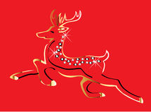 Christmas reindeer gold Royalty Free Stock Photography