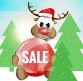 Christmas Reindeer stock illustration