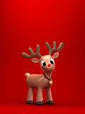 christmas reindeer with green background Royalty Free Stock Photo