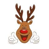 Christmas reindeer . Royalty Free Stock Image