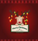 Christmas reindeer Royalty Free Stock Photography