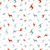 Christmas reindeer holiday doodle seamless pattern Royalty Free Stock Image