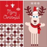 Christmas reindeer. Holiday christmas reindeer  illustration Stock Photo