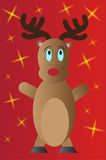 Christmas reindeer illustration Stock Photos