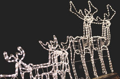 Christmas reindeer. Christmas market and reindeer light Stock Images