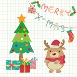 Christmas Reindeer royalty free illustration