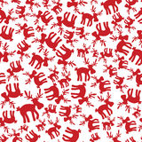 Christmas reindeer pattern eps10 Royalty Free Stock Photos