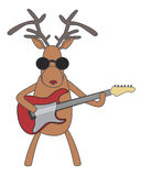 Christmas reindeer playing guitar. Vector Christmas reindeer playing guitar Royalty Free Stock Image