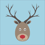 Christmas reindeer portrait Stock Images