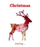 Christmas reindeer progress loading bar Royalty Free Stock Photography