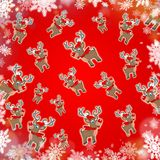 Christmas reindeer red cute background Stock Images