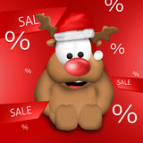 Christmas Reindeer red design Royalty Free Stock Photos