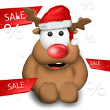 Christmas Reindeer red design Royalty Free Stock Images