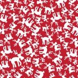 Christmas reindeer red pattern eps10. Christmas reindeer red and white pattern eps10 royalty free illustration