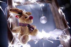 Christmas reindeer rudolf stock photo