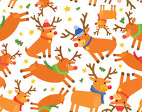 Christmas Reindeer Seamless Background Royalty Free Stock Image