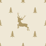 Christmas reindeer seamless line pattern tile Stock Image