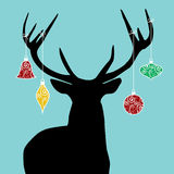 Christmas reindeer silhouette Royalty Free Stock Photography