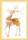 Christmas reindeer silhouette. Color illustration of deer silhouette of triangles Stock Photography