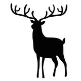 Christmas reindeer. Silhouette  illustration Royalty Free Stock Photo