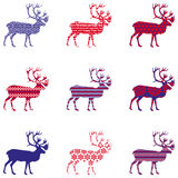 Christmas reindeer silhouette with ornament Royalty Free Stock Images