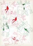 Christmas reindeer silhouettes Royalty Free Stock Photo