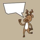 Christmas reindeer speech balloon Stock Photos