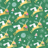 Christmas reindeer to rabbits texture Royalty Free Stock Photography