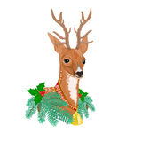 Christmas reindeer vector Royalty Free Stock Photo