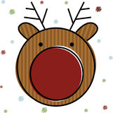 Christmas Reindeer . Vector Illustration Royalty Free Stock Photos