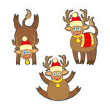 Christmas reindeer vector illustration. Stock Image