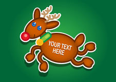 Christmas Reindeer Vector Sticker Stock Photos