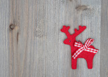 Christmas Reindeer on wooden Royalty Free Stock Photo