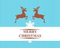Christmas reindeers card Stock Images
