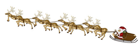 Christmas Reindeers Mulberry Paper. Cutting on white background stock illustration