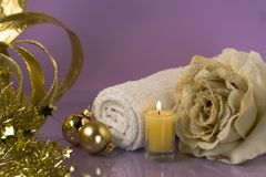 Christmas relaxation Royalty Free Stock Image