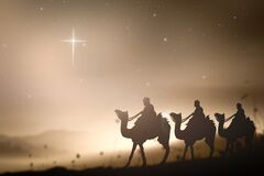 Epiphany and Christmas religious nativity concept