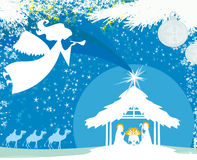 Christmas religious nativity scene Royalty Free Stock Photo