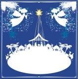 Christmas religious nativity scene Royalty Free Stock Image